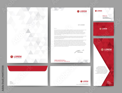 Fototapeta Branding identity template corporate company design, Set for business hotel, resort, spa, luxury premium logo, vector illustration obraz