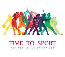 Color Sport Background. Footba...