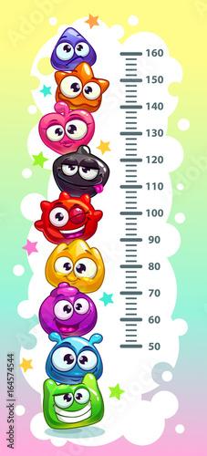 Staande foto Hoogte schaal Kids height chart.