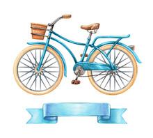 Watercolor Illustration, Blue ...