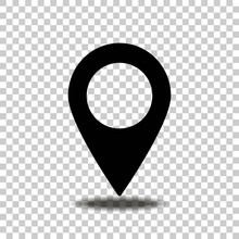 Vector Positioning Icon. Geolocation. Location. A Mark On The Map.