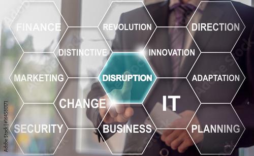 Fototapeta Disruption Cloud Tag Business concept
