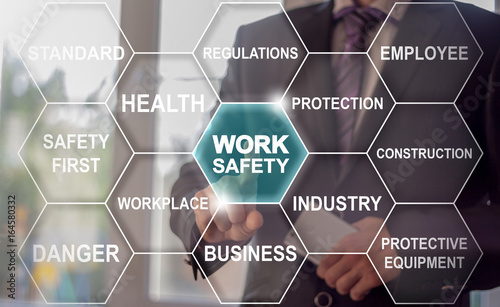Stampa su Tela Work Safety Business Industry Work Tag Cloud concept