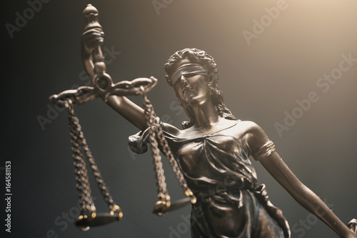 Fototapety, obrazy: Scales of Justice symbol, legal law concept image
