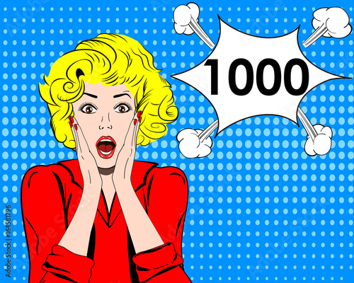 Fotografía  Thousand followers online social media achievement