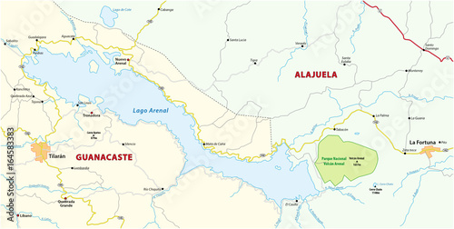 Administrative And Political Map Of The Environment Of The Costa