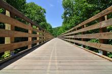 Wooden Trestle Bridge On The V...