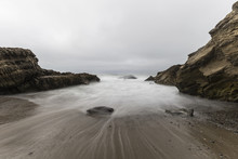 Rocky Cove With Motion Blurred...