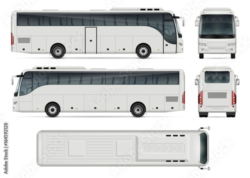 Photo Bus vector template for car branding and advertising