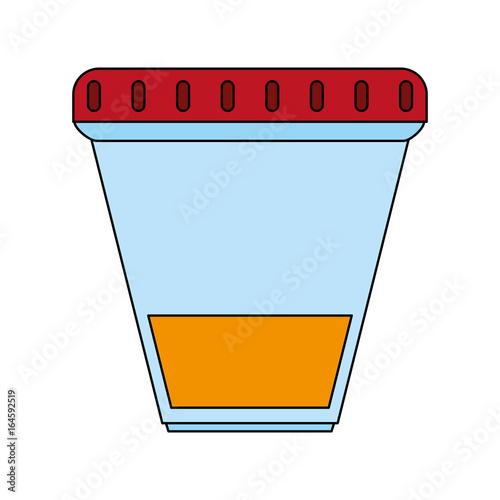 Fotografie, Obraz  Urine recipient over white background vector illustration