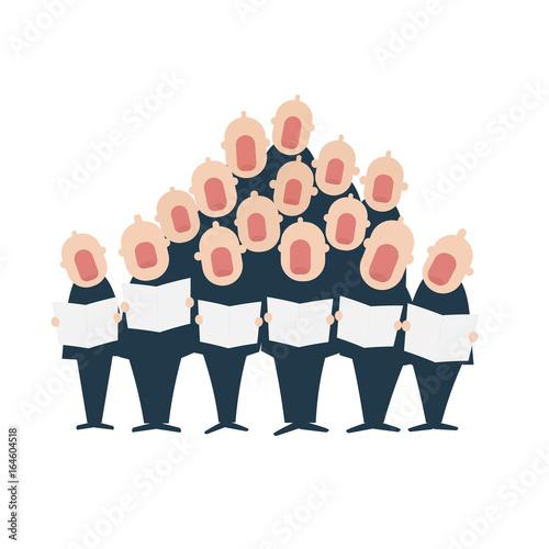 Male chorus in action Fototapet