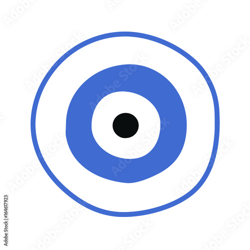 Blue Greek Evil Eye Vector Symbol Of Protection Buy This Stock