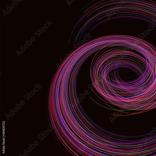 Zdjęcie XXL Niesamowita liniowa nić, abstrakcjonistyczny wektorowy czarny tło szablonu tła astronautyczny projekt dla plakatów, ulotek, pokryw, prezentacje, wizytówki. Ilustracja wektorowa