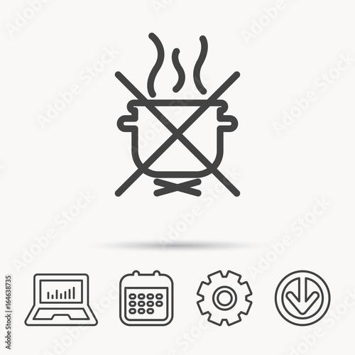 Boiling saucepan icon Slika na platnu