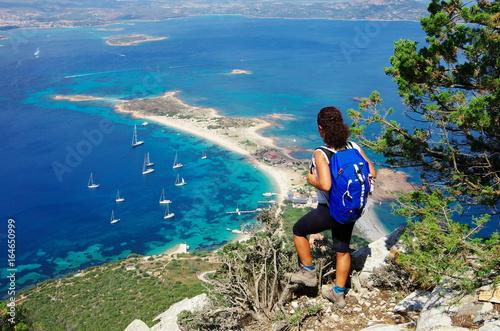 Trekking in Sardinia: to the summit of Tavolara Island. Wallpaper Mural