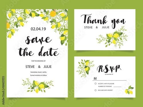 Garden Poster Retro sign wedding template and elements