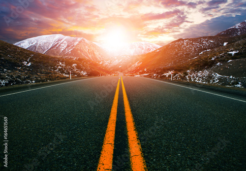 Fototapety, obrazy: mountain road in arthur's pass national park new zealand ,most popular traveling route in new zealand