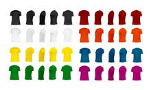 T-shirt Template Set Of Differ...