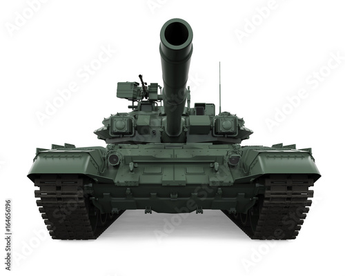 Military Tank Isolated Wallpaper Mural