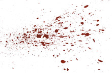Acrylic Paint Red Splatters