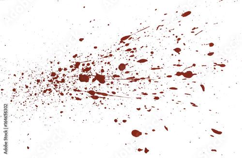 Cuadros en Lienzo acrylic paint red splatters