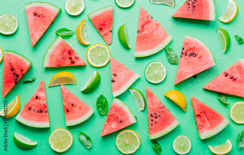 cutted-lemons-and-limes-with-watermelon