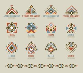 Tribal native pattern set