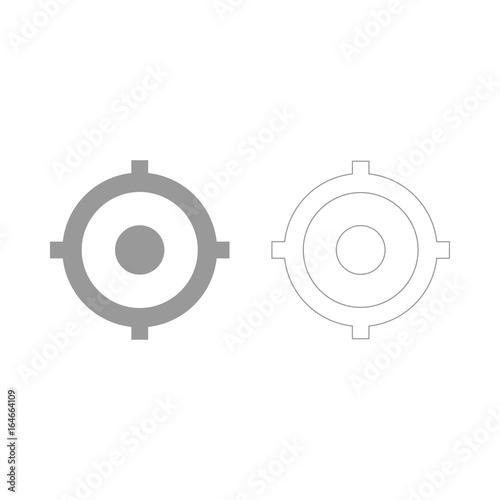Deurstickers Schepselen Gps outline the grey set icon .