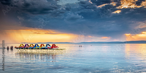 Photo  Sunset over lake Balaton, Hungary