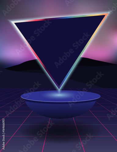 Abstract background in the style of the eighties.