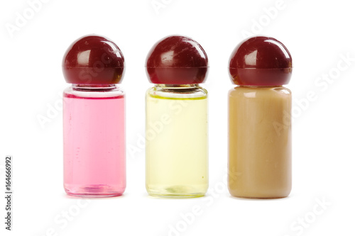 a tubes of cosmetics isolated on white background