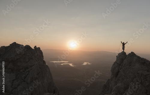Photo success of the climb at sunrise
