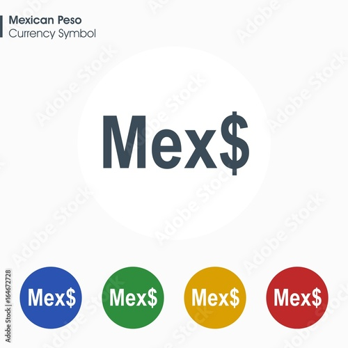 Mexican Peso Sign Iconney Symbol Vector Illustration Buy This