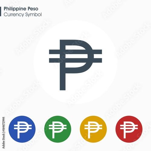 Philippine Peso Sign Iconney Symbol Vector Illustration Buy