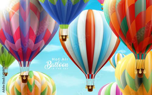 Fotografie, Obraz  Hot air balloons in the sky
