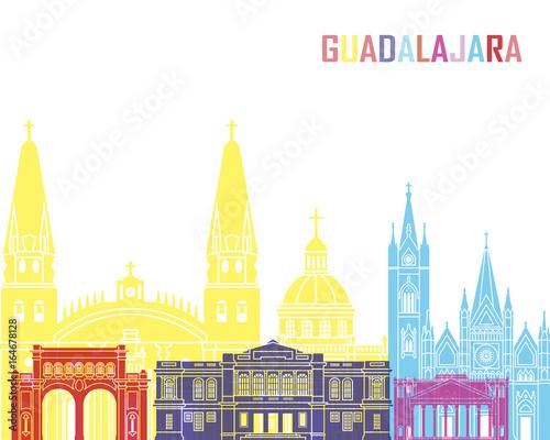 Guadalajara MX skyline pop