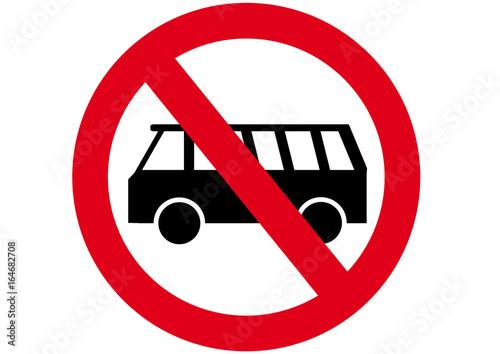 Fotografia Schild Busse verboten