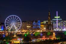 Christmas Lights In Edinburgh'...