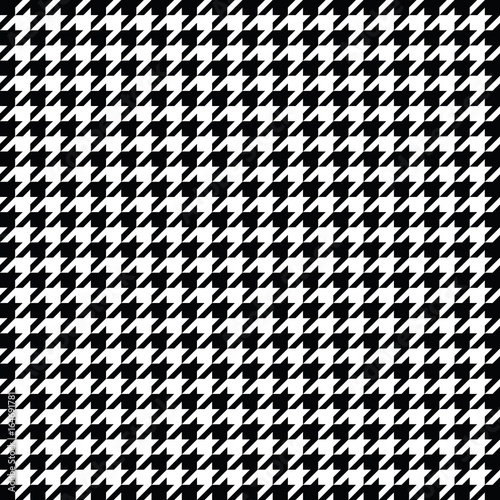 Photographie Black and white houndstooth pattern vector