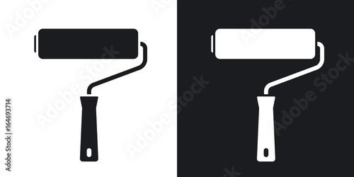 Fotografía  Vector paint roller icon