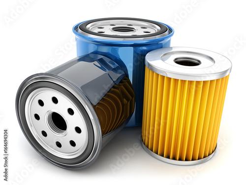 Fotografía  Three car oil filter