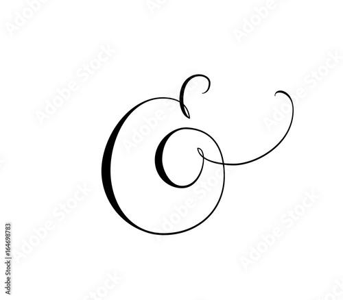 Photo Custom decorative ampersand isolated on white