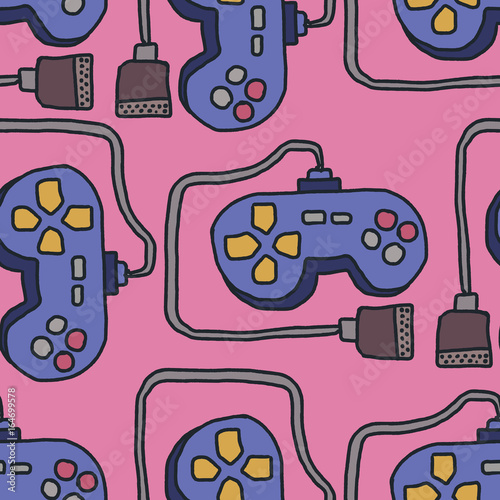 wzor-joysticka-retro-gamepad-tlo-ozdoba-kontrolera-gier-wideo