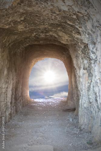 lumière au bout du tunnel  Fototapete
