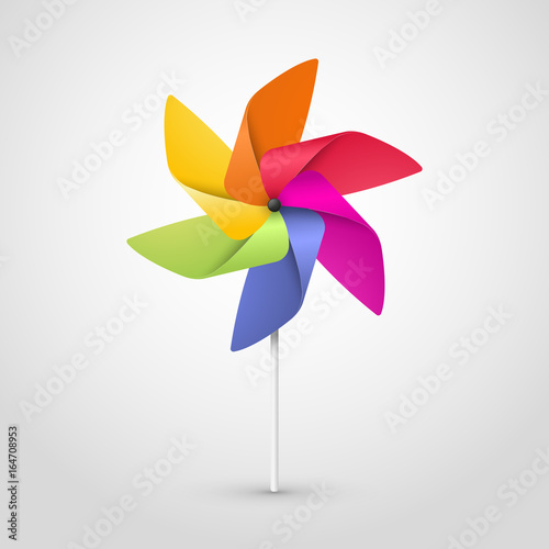 color pinwheel Canvas-taulu
