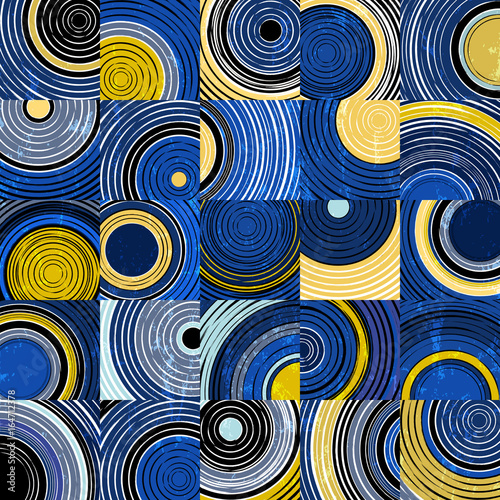 background pattern with circles, squares, strokes and splashes,vector