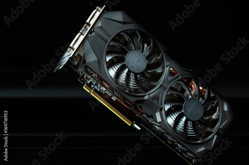 Computer graphic card Canvas Print