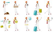 Muslim Traveler Vector Illustr...