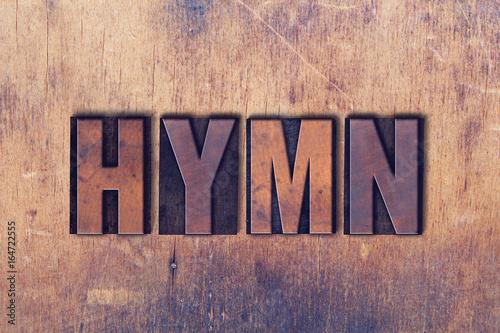 Valokuva  Hymn Theme Letterpress Word on Wood Background