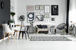 canvas print picture - Room in scandinavian style
